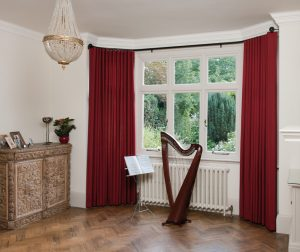 bay window wave curtains