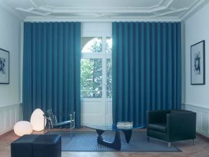 wave curtains living room