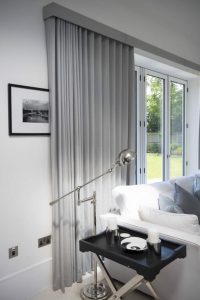 grey wave curtains with pelmet