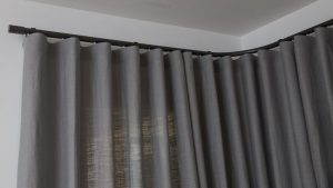 bay window wave curtains